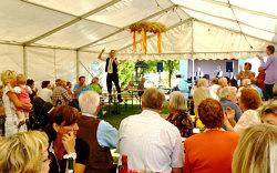 'Kaffeekonzert im Festzelt' mit den Steigraer Musikanten zum Erntedankfest in Schnellroda am 02.09.2012
