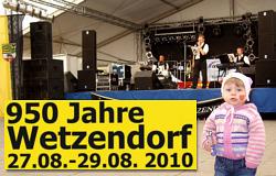 950 Jahre Wetzendorf - Frühschoppen mit den Steigraer Musikanten am 29.08.2010